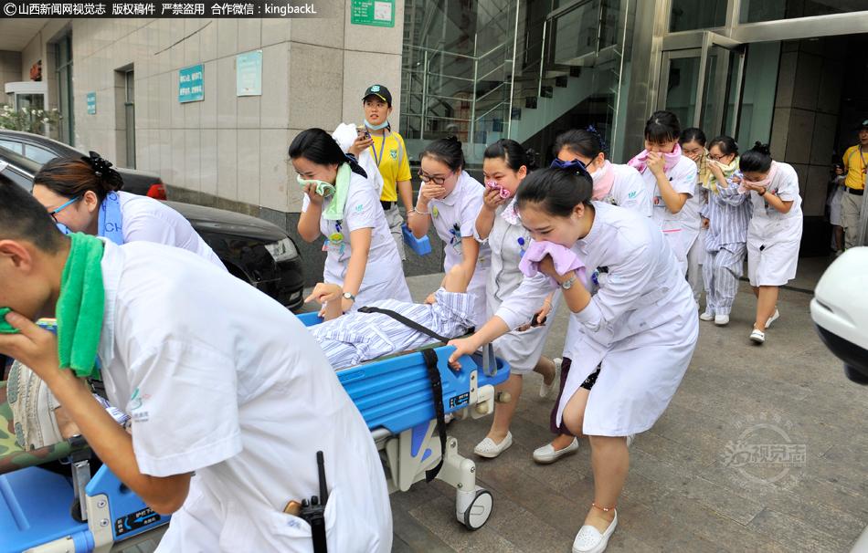 原 直击省人民医院火灾应急疏散演练