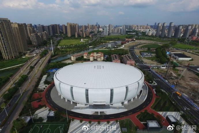 杭州体育馆_杭州滨江区体育馆建成 大白碗9月投用