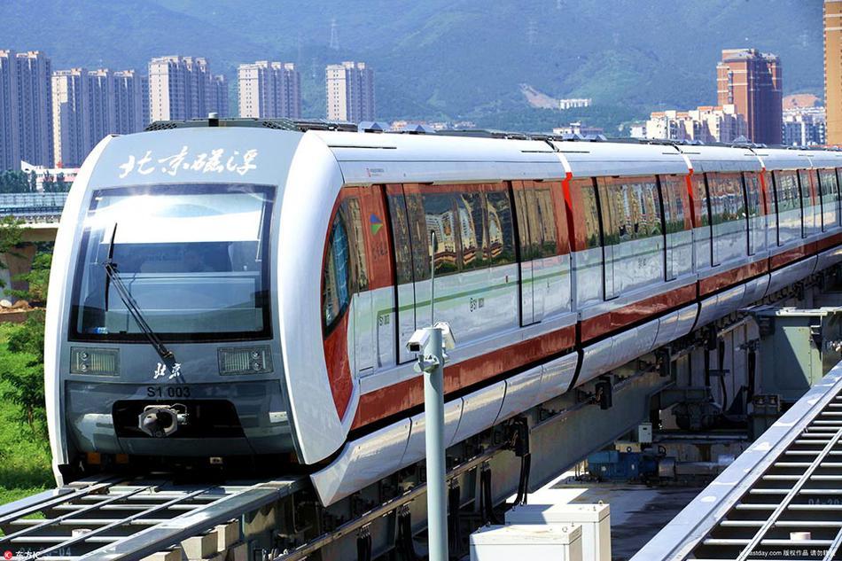 北京磁悬浮示范线,又称北京地铁S1线,北京地铁门头沟线.北京地图片