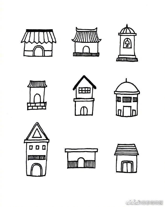 孩子让你画房子,你怎么画 快收下这组简笔画