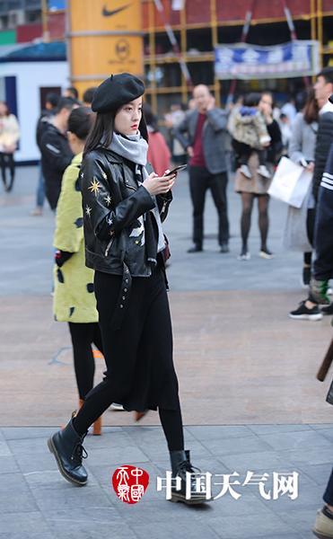 其中主城仅9.1℃,仿若初冬.(重庆街拍飞飞哥/摄)-重庆美女上演 图片