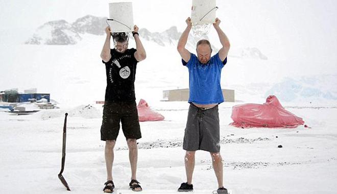 好莱坞男星冰桶挑战集合:一场半裸的挑战
