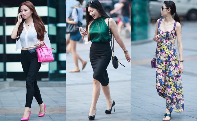 街拍:重庆美女清新淡雅