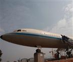 长沙工地现空军退役飞机