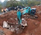 湖南考古用挖掘机挖古墓