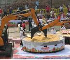 长沙造1863斤重南瓜饼