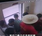 被困电梯砸墙挖洞自救