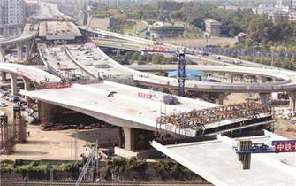 国内最宽转体桥在汉完美转身
