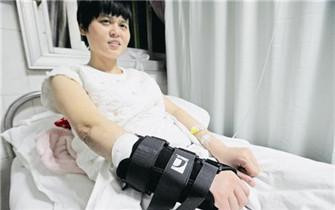 荆门护士为救跳楼患者肌腱被割断