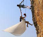 金华夫妻拍悬崖婚纱照