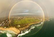 澳大利亚现罕见全圆形彩虹