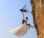 悬崖上拍婚纱照