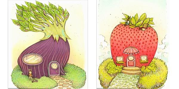 蔬菜创意儿童画欣赏,萌萌哒!