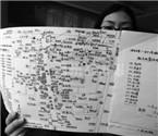 温州老师手绘全班同学住址图