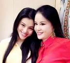 刘翔妻子母女似姐妹