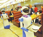 """餐厅现机器人""""服务员"""""""