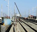 2号线一期高架铺轨展开