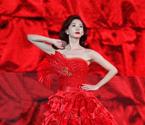 林志玲2米红裙如火妖姬