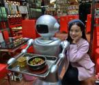 探秘首家机器人主题餐厅
