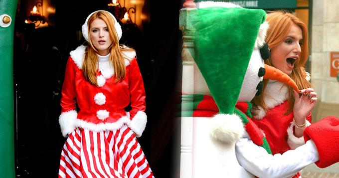 贝拉-索恩变乖乖女 圣诞装甜美可人