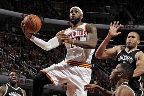 NBA-詹姆斯22分 骑士胜篮网