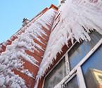 牙克石一酒店房屋漏水成冰挂