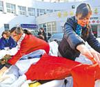 宁波市民为藏民捐冬衣