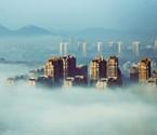 余姚城区现平流雾景观