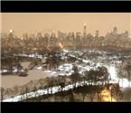 延时摄影航拍暴风雪来袭