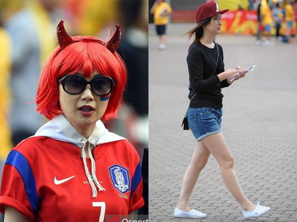 韩澳美女球迷助阵亚洲杯决赛