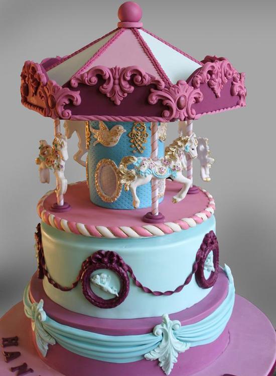 Cake With Saree Design