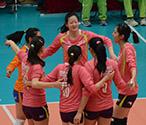 天津女排征战女排联赛