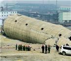 葫芦岛130米烟囱被拆除