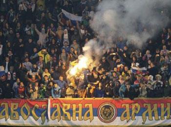 彩果:黑山VS俄罗斯比赛因球迷骚乱腰斩