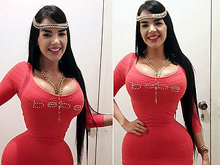 女模34D胸腰围仅15寸