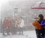 大洪山景区4月大雪纷飞