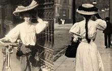 百年前的街拍时尚 女人们都在穿什么