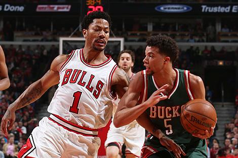 NBA季后赛-雄鹿力克公牛 总比分2-3