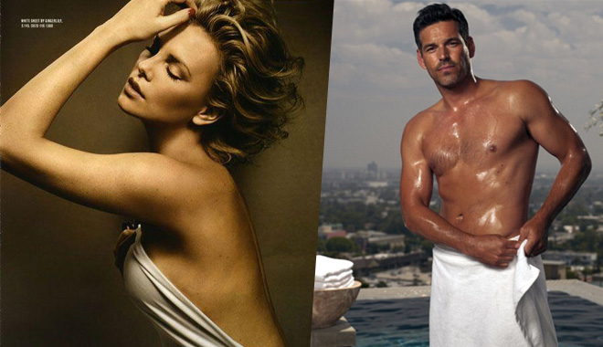 好肉体+一条白浴巾 明星出浴也是凹造型的