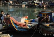 沙坡尾渔船即将清空 市民游客争相与渔船合影