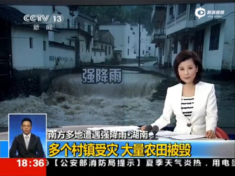 湖南多个村镇受灾 大量农田被毁