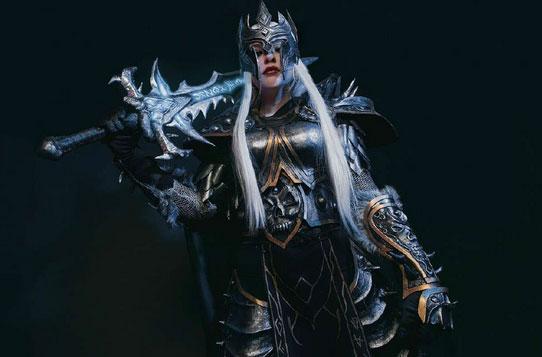 霜之哀伤饿了!魔兽世界美女玩家cosplay巫妖王