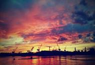 静谧的秦皇岛港