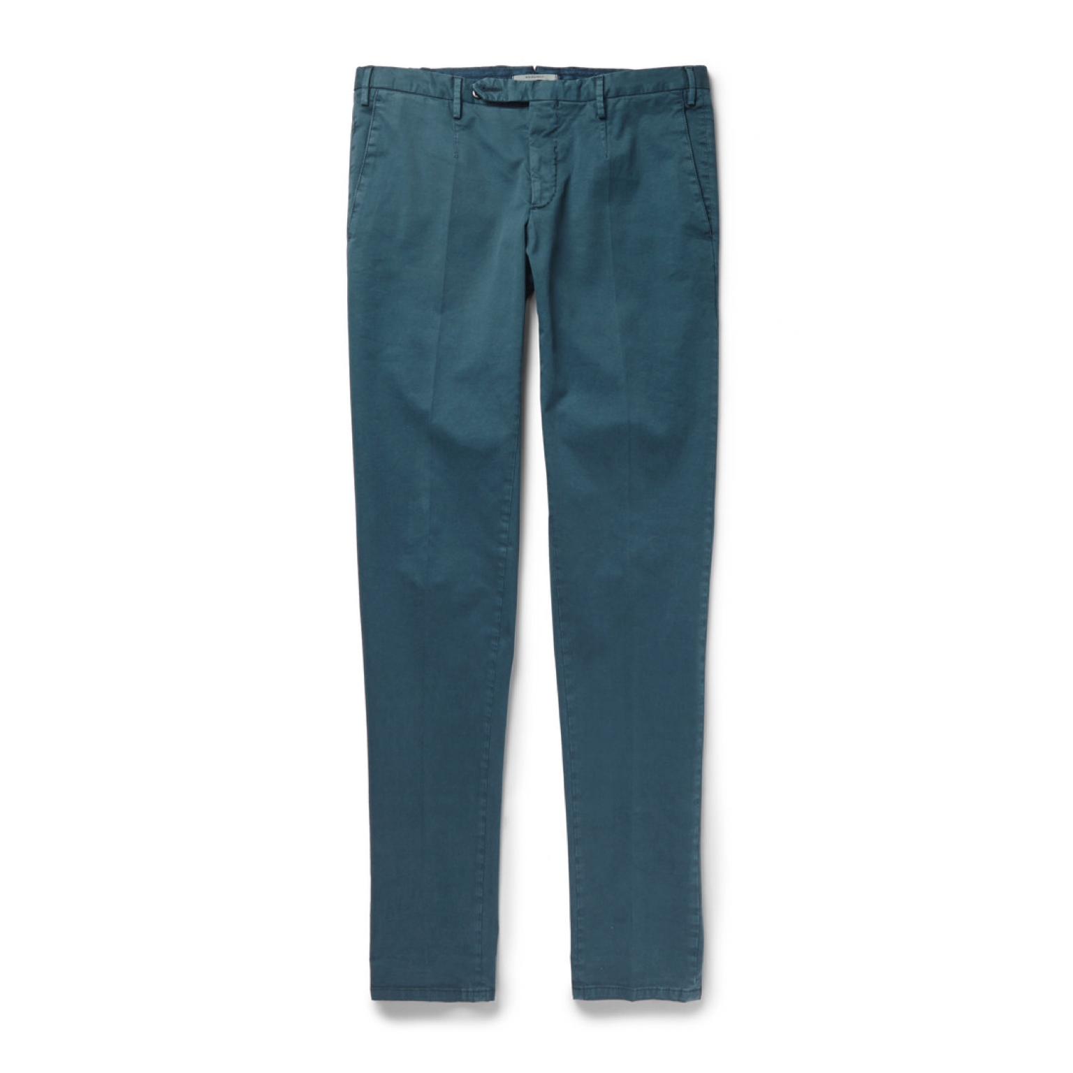 墨绿色长裤