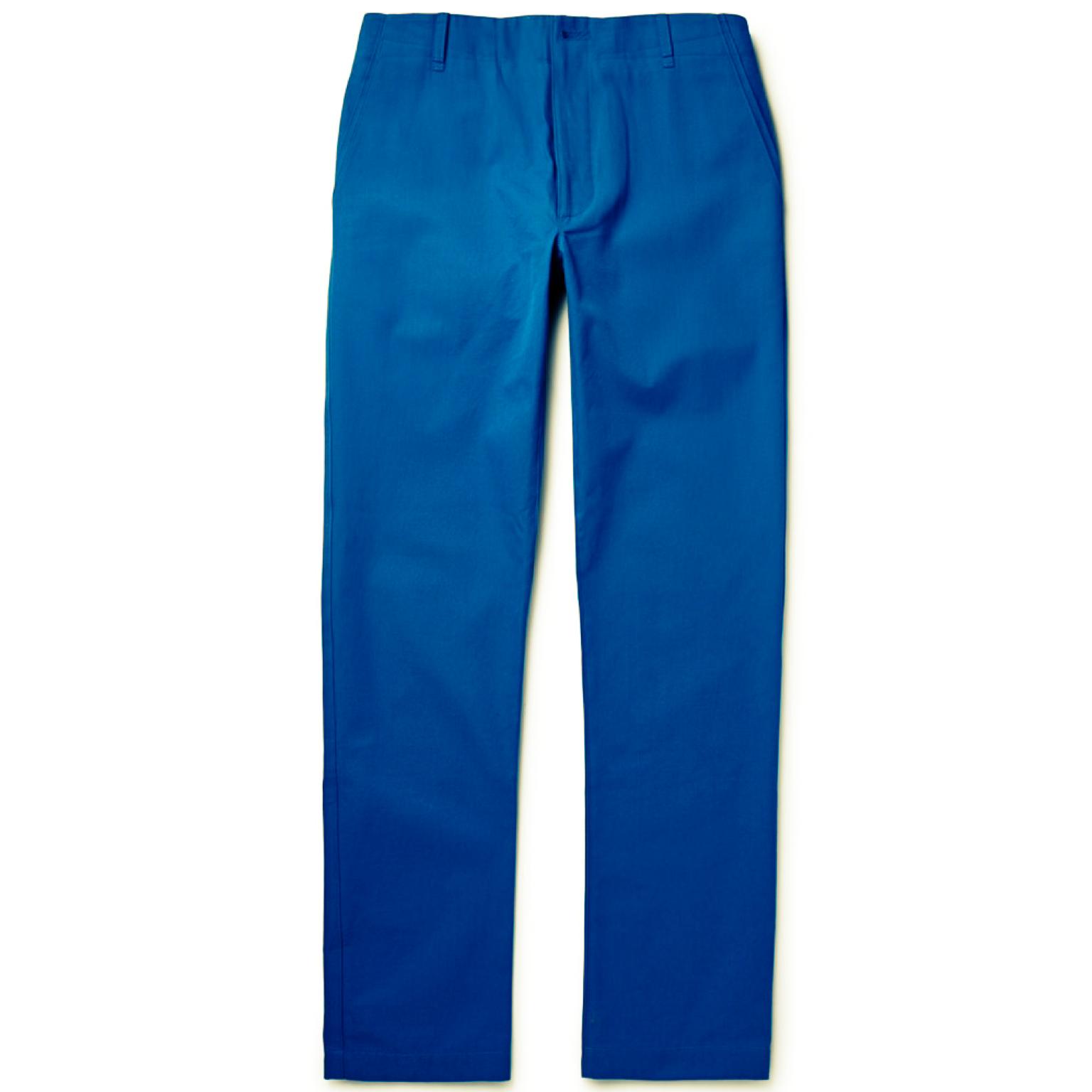 蓝色西装裤