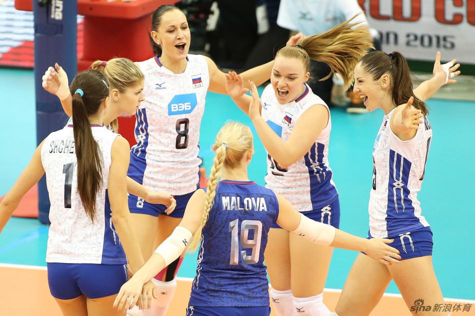 俄罗斯女排3-0美国队