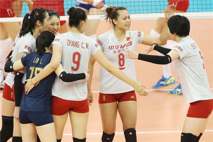 中国女排3-1俄罗斯