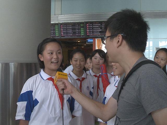 红领巾接机中国女排