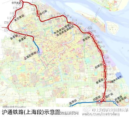 沪通铁路规划再调整 徐行站等4站位置确定