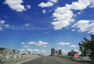 东营的秋日的蓝天白云